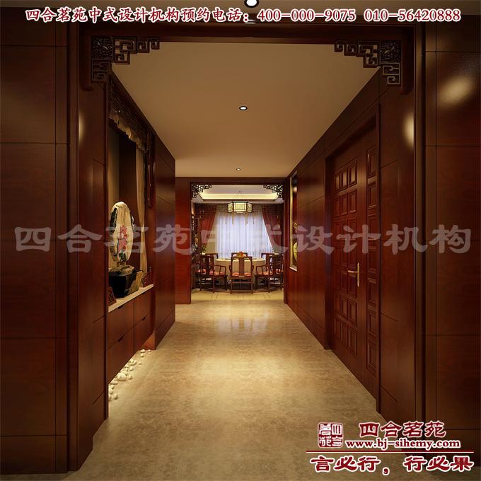 中式别墅装修-过道设计