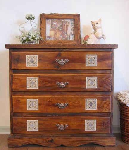 中式装修田园风格设计--卧室床头柜
