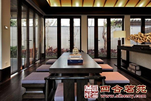 徽式四合院建筑群   现代中式四合院   卧室效果