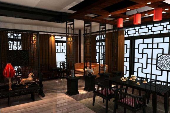 中式茶楼包间装修效果图体现设计文化韵味 图文