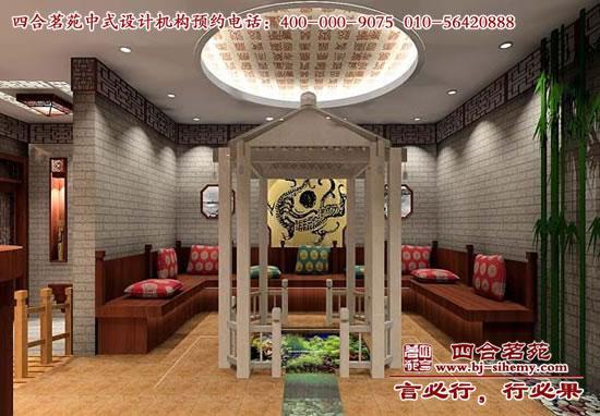四合茗苑中式设计效果图赏析——古典茶楼装修(图文)