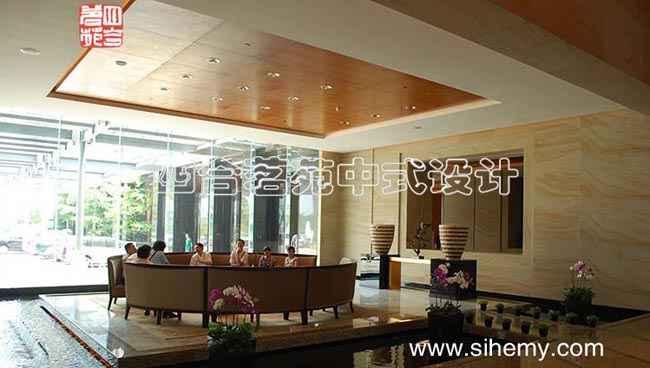 现代中式酒店风格装修设计实景照片,四合院装修,四合院设计,